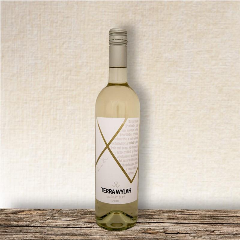 terra wylak muškát žltý 2018 mladé víno topvino